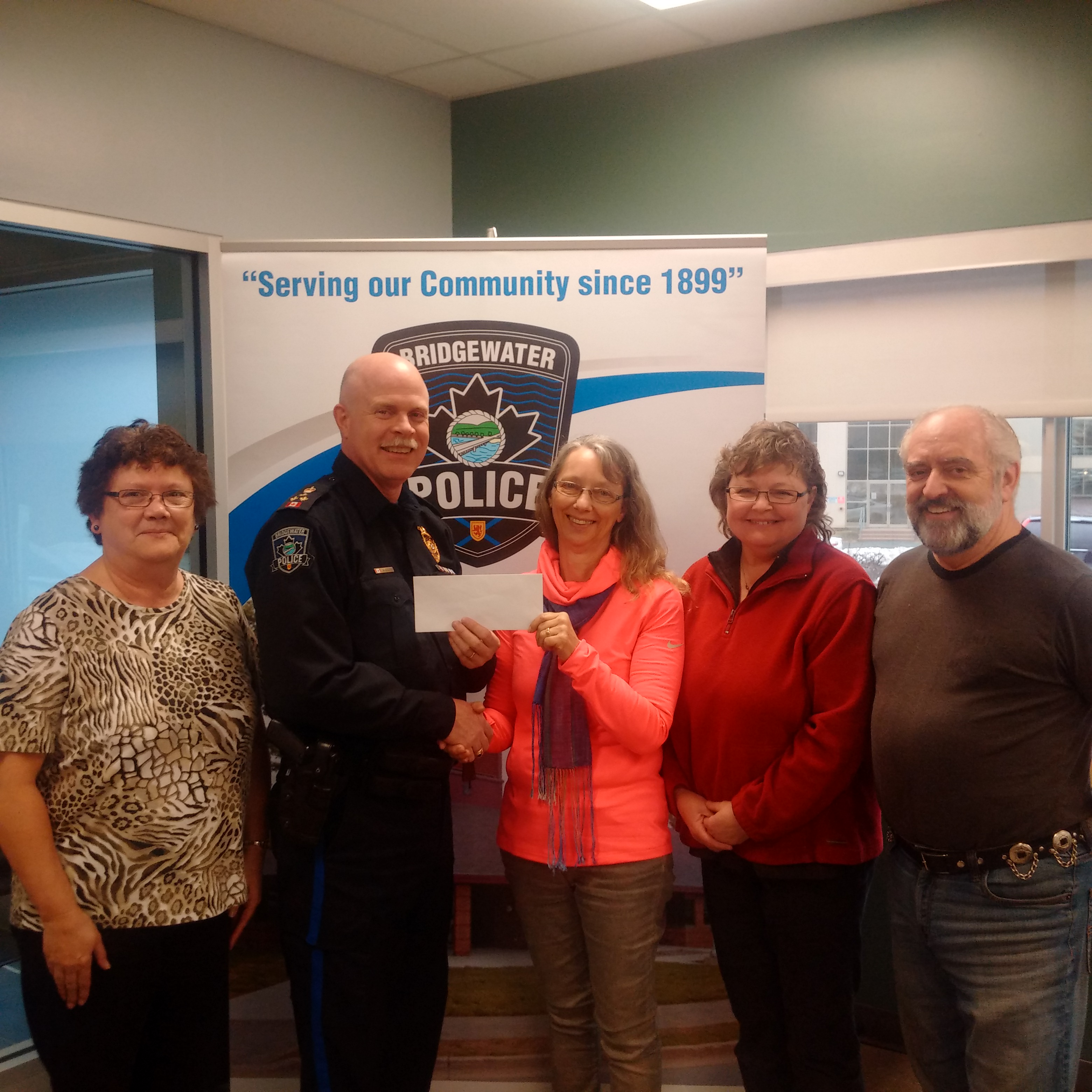 Lorraine Snyder,  Chief John Collyer, Elizabeth Aulenback, Carla and Roger Carver‎